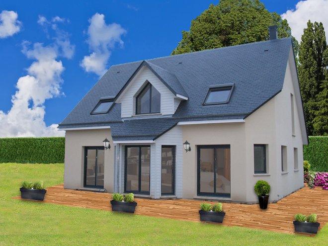 maison ossature bois 76 712 gueudry. Black Bedroom Furniture Sets. Home Design Ideas