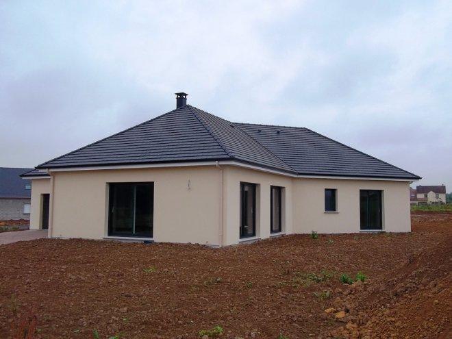 Maison A Etage Plan : Maison de plain pied  gueudry