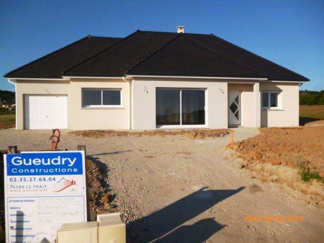 Maison de plain pied 76 13052 gueudry for Prix maison cle en main sans terrain