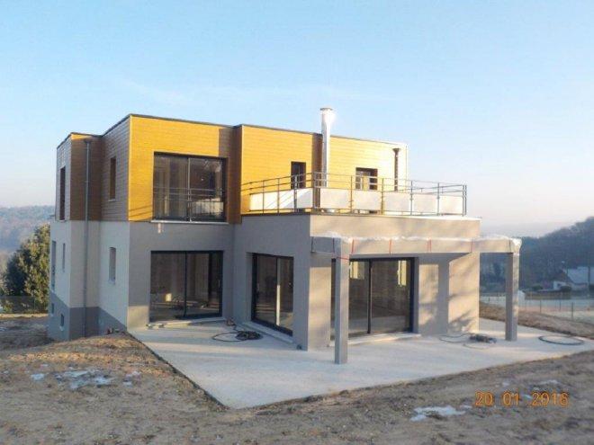 maison ossature bois 76 14025 gueudry. Black Bedroom Furniture Sets. Home Design Ideas