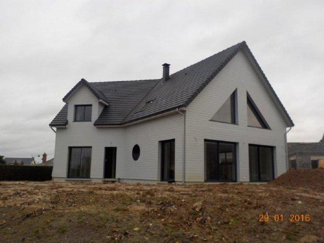 Maison ossature bois 76 14235 gueudry for Achat maison bois