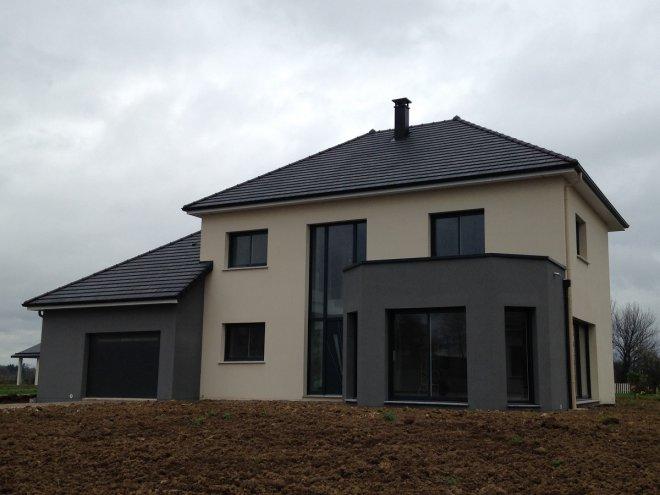 maison toit terrasse 76 15086 gueudry. Black Bedroom Furniture Sets. Home Design Ideas