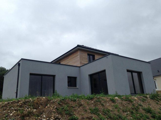 Constructeur maison contemporaine maison moderne for Maison ossature bois normandie