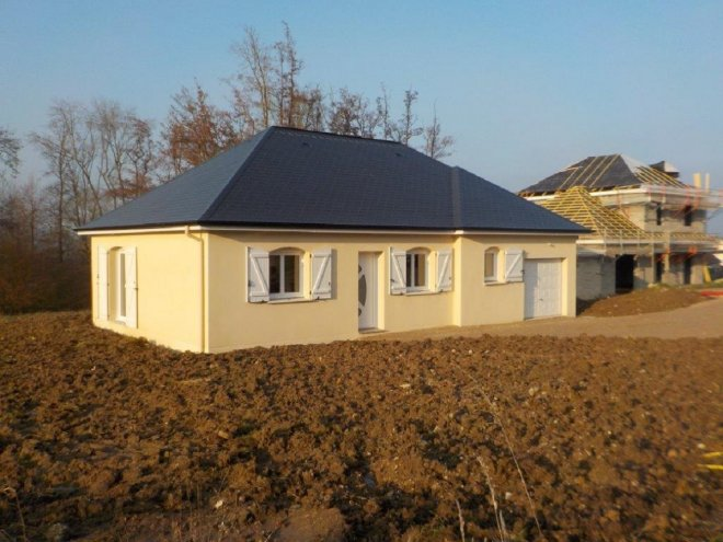 Maison de plain pied 27 16446 gueudry for Constructeur eure