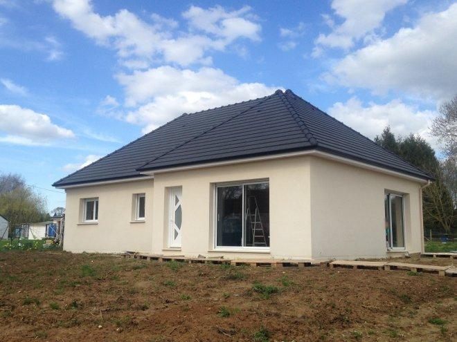 Maison de plain pied  Mesnil-Panneville  (76)
