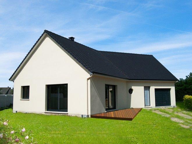 maison de plain pied 76 825 gueudry. Black Bedroom Furniture Sets. Home Design Ideas