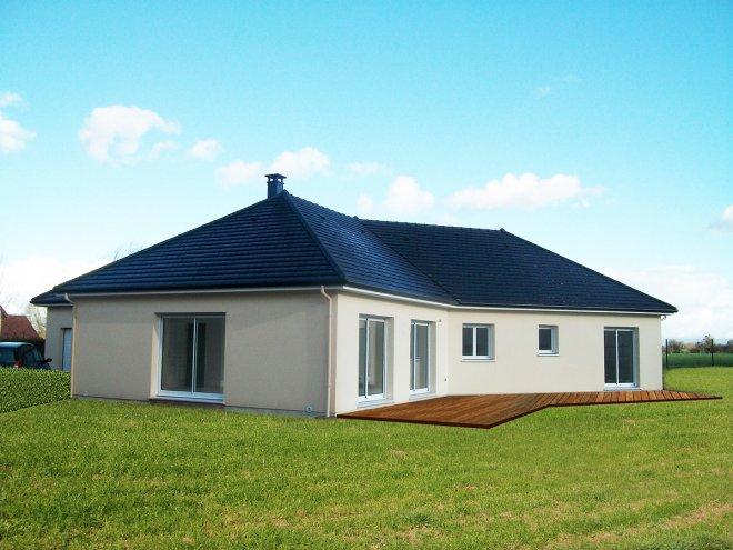 maison de plain pied 14 916 gueudry. Black Bedroom Furniture Sets. Home Design Ideas
